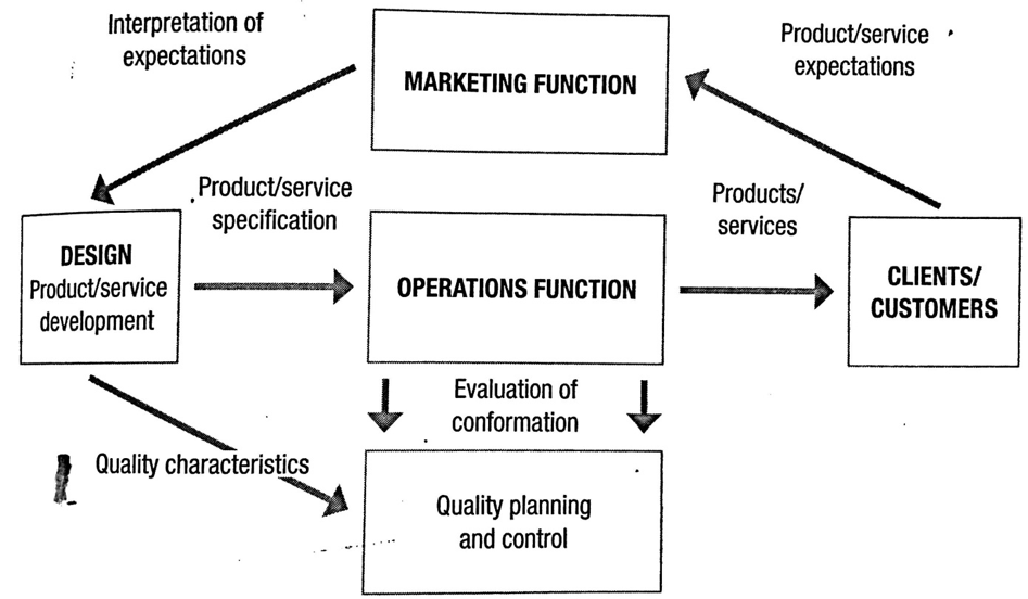 The customer/client-marketing-design-operations cycle